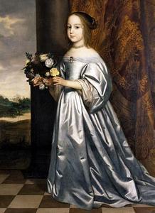 Portret van Henrietta Francisca prinses van Hohenzollern-Hechingen (1642-1698)