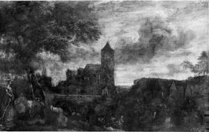 Landschap met burcht