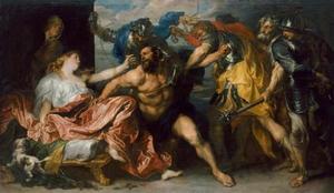 De gevangeneming van Simson (Richteren 16:19-21)