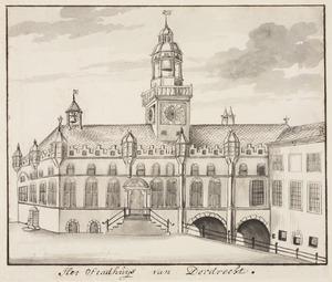 Het stadhuis in Dordrecht