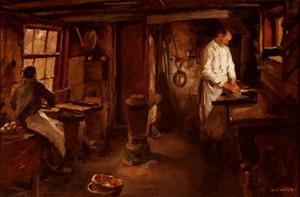 Interieur van de bakkerij van H.J. Zalingen in Amersfoort