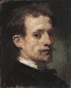 Zelfportret van Hans von Marées (1838-1887)