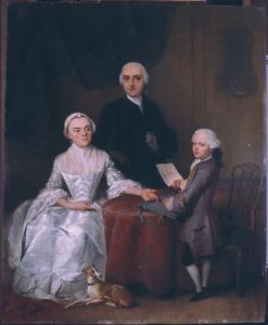 Portret van Cornelis Kien van Citters (1732-1805), Magdalena Adriana Steengracht (1732-1799) en Willem Aernoud Kien van Citters (1756-1794)