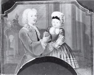 Portret van een onbekende man en kind