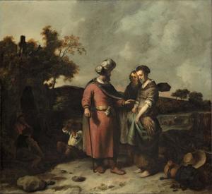Boaz spreekt met Ruth  (Ruth 2:1-23)
