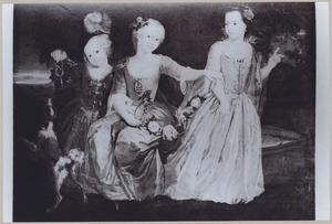 Portret van Maria Anna Francisca van Groesbeek 1729-1762), Elisabeth Catharina Francisca van Groesbeek (1730-1782) en Jacobus Franciscus van Groesbeek (1734-1757)