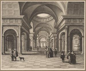 Interieur van een classicistische kerk