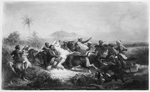 Bantengjacht in de  Preanger (West-Java)