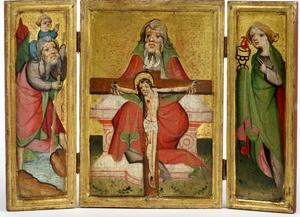God de Vader die het kruisbeeld vasthoudt
