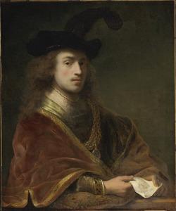 Zelfportret met gouden ketting en baret