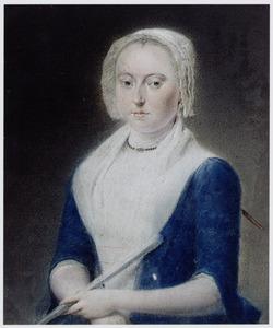 Portret van een vrouw, mogelijk Anna van den Bos (1738-1802)