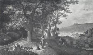 Landschap met fazantenjacht