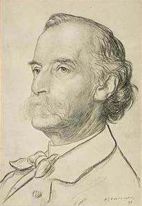 Portret van Prof. Cornelis Petrus Tiele (1830-1902)