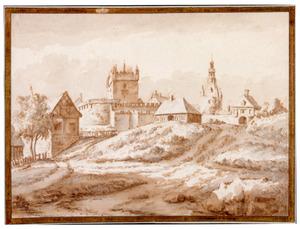 Gezicht op kasteel Bentheim