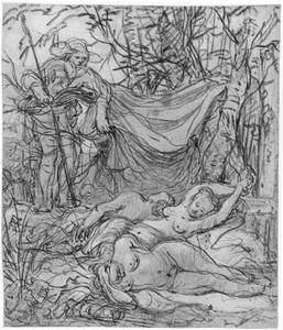 Cimon bespiedt de slapende Iphigeneia en haar gezellinnen (Boccaccio, Decamerone 5-1:33)