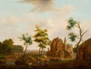 Kasteel in een landschap