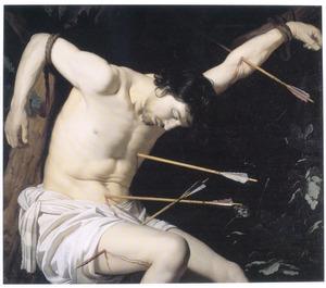 De H. Sebastiaan, doorzeefd met pijlen
