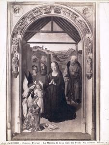 Drieluik met scènes uit het leven van Maria: De Geboorte