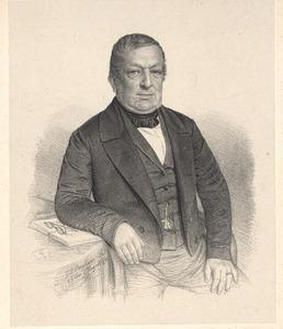 Portret van Willem Cornelis Hattinga Raven (1790-1859)