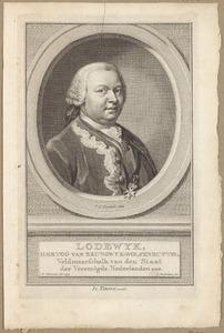 Portret van Lodewijk Ernst van Brunswijk-Wolfenbuttel (1718-1788)