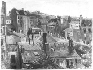 Gezicht op de daken van Parijs