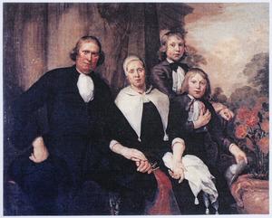 Familieportret van Floris Cornelisz. de Lange (1634-1714), Trijntje Jans (?-1713) en hun kinderen
