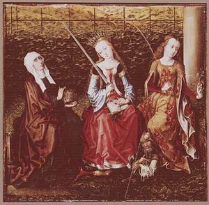 De HH. Elizabeth van Hongarije, Catharina van Alexandrië en Dorothea