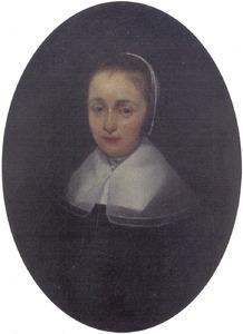 Portret van de vrouw of dochter van Eleazer Lootius (1595-1668), predikant te Den Haag