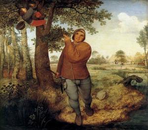 Een boer en een vogelnestdief