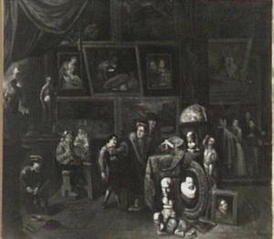 Kunstkenners in de studio van een schilder