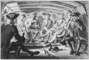 Het 'Teeken collegie' in de Haarlemmer trekschuit