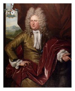 Portret van Apollonius Lampsins, baron van Tobago (1674-1728)