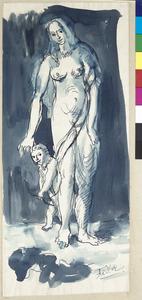 Venus en Amor met pijl en boog