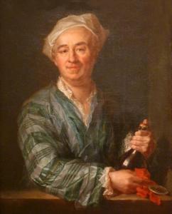 Man met fles champagne