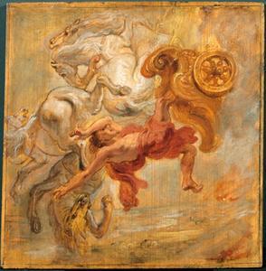 De val van Phaëton (Ovidius, Metamorfosen, II, 31-328)