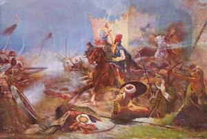 De uitval van Zrinyi op de Turken vanuit het fort Szigetvár