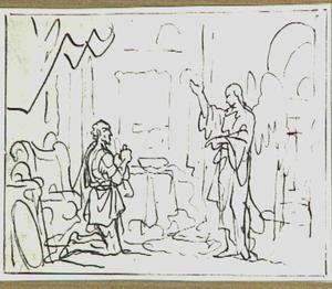 De engel verschijnt aan de honderdman Cornelius (Handelingen10:1-3)