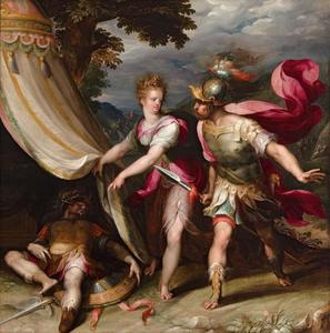 Barak comes to Jael's tent. She shows him the dead Sisera  (Richteren 4: 12-24)