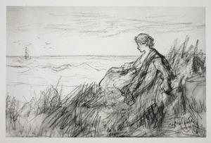 Meisje in de duinen