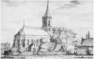 De kerk van Groot Ammers
