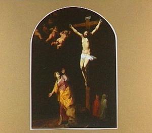 Maria Magdalena ziet Christus aan het kruis