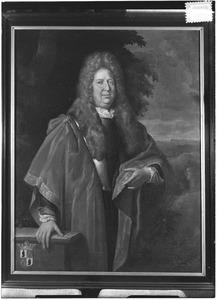 Portret van Joannes Everardus Canisius van der Heyden (?-1711)