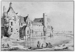 Het kasteel van Grave aan de achterzijde