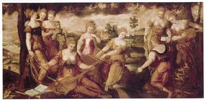 Landschap met de negen muzen