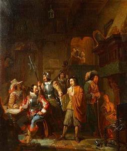Adriaan Brouwer te Antwerpen, als Spion aangehouden