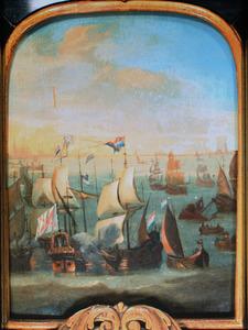 Slag op de Zuiderzee bij Hoorn, tegen Bossu