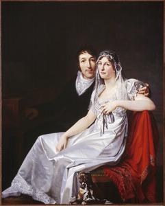 Portret van Bernard Anton Fallee (1773-1847) en Antoinette Justine Temminck (1778-1849)