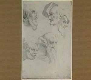 Studies van groteske koppen