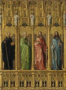 Heilige Benedictus en de apostelen Philippus, Matthäeus en Jacobus de Jongere