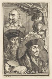 Portretten van Desiderius Erasmus (1466-1536), David Jorisz. (1501-1556) en Jan Snellinck (....-1638)